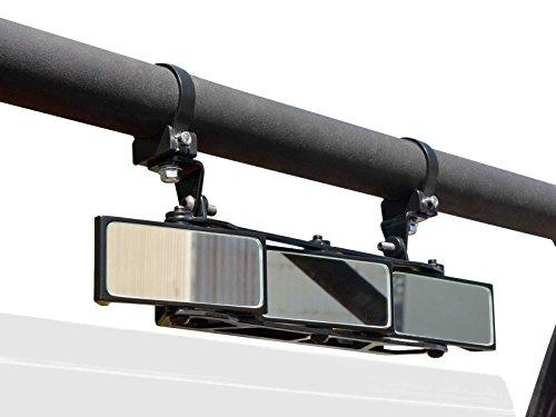 SuperATV UTV Heavy Duty 3 Panel Rear View Mirror With 175 Clamps for Polaris RZR 800  XP 900  S 900  S 1000  XP 1000  XP TurboXP Turbo SPRO XP