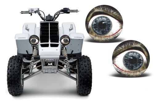 AMR Racing ATV Headlight Eye Graphic Decal Cover for Yamaha Banshee 350 87-05 - Bloodshot