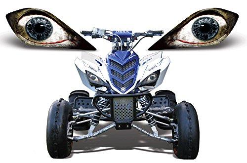AMR Racing ATV Headlight Eye Graphic Decal Cover for Yamaha Raptor 700250350 - Bloodshot