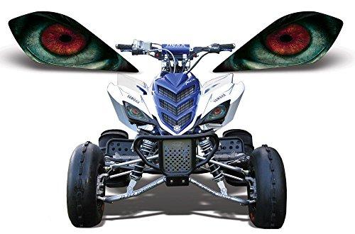AMR Racing ATV Headlight Eye Graphic Decal Cover for Yamaha Raptor 700250350 - Nightmare