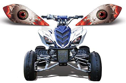 AMR Racing ATV Headlight Eye Graphic Decal Cover for Yamaha Raptor 700250350 - Spliced