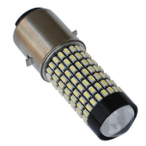 BYOPTO 1 Pcs H6 BA20D HL 1400LM DC12V 158SMD LED motor bikemopedscooterATV headLight fog DRL bulb