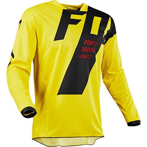 Fox Racing 180 Mastar Youth Motocross Jerseys - Yellow - Youth Large