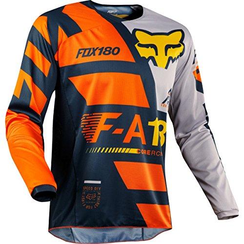 Fox Racing 180 Sayak Youth Motocross Jerseys - Orange - Youth Large
