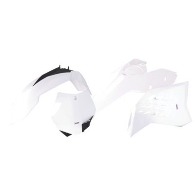 Polisport Complete Replica Plastic Kit White for KTM 450 XC-F 2008-2009