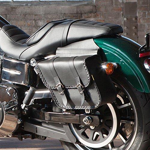 Willie Max 58707-20 Braided Series Compact Slant Saddlebag Set