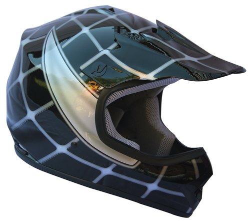 AMZ Off Road Motocross Motorcycle Helmets for KidsSpider BlackMediumDOT ATVsUTVDirt-BikeGo-cartAdventure