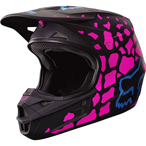 Fox Racing Grav Adult V1 Motocross Motorcycle Helmet - BlackPink  Small