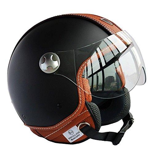 PEDA Italian Design MOCA B ECE DOT Motorcycle Helmet Unisex Open Face ITALY Jet Sport Urban Vintage CASCOS Leather Style Capacete Half Helmets Large 59-60cm
