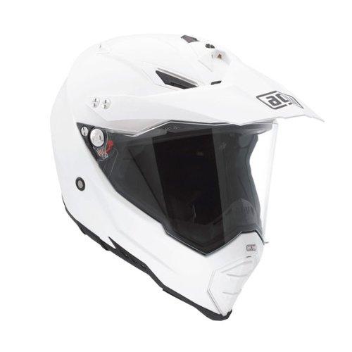 AGV AX-8 Dual Sport EVO Solid Off-Road Motorcycle Helmet - White Medium