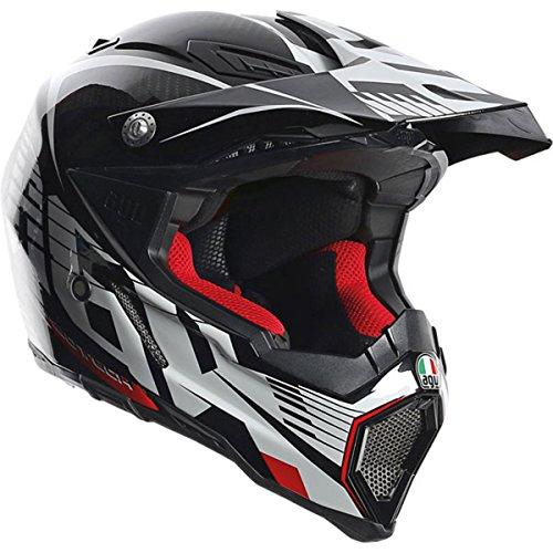 AGV AX-8 Dual Sport Evo Adult Helmet - Flat Carbon  Large