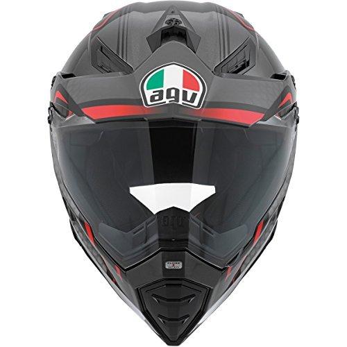AGV AX-8 Dual Sport Evo Helmet Composite Fiber GT Gloss BlackRedSilver Medium