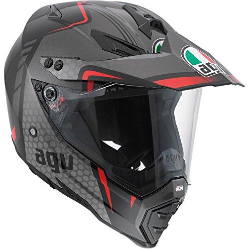 AGV AX-8 Dual Sport Evo Helmet Composite Fiber GT Gloss BlackRedSilver X-Large