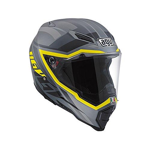 Agv AX 8 Evo Naked Karakum Helmet-Grey-Yellow-Black-M