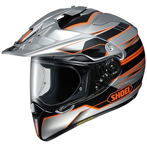 Shoei  unisex-adult full-face-helmet-style Hornet X2 Navigate Tc-8 Helmet SilverOrange Large 1 Pack
