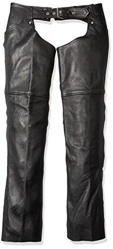Milwaukee Womens Leather Chaps Black Medium
