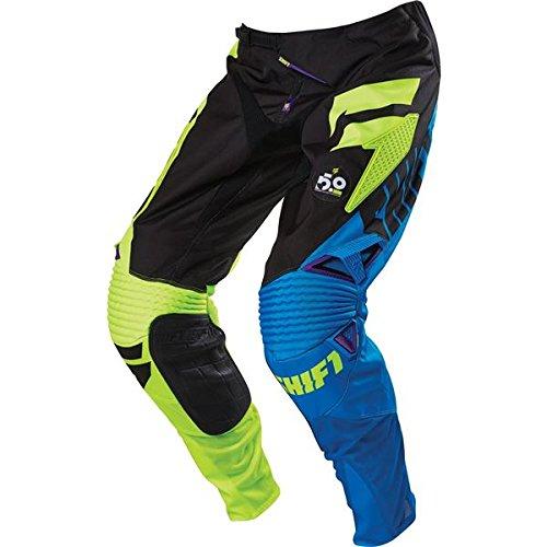 Shift Racing Faction Mens Dirt Bike Motorcycle Pants - PurpleYellowSize 30