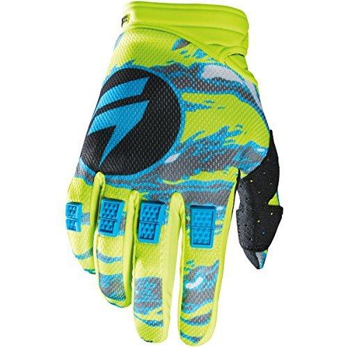 Shift Racing Strike Mens Dirt Bike Motorcycle Gloves - Yellow Camo  Small