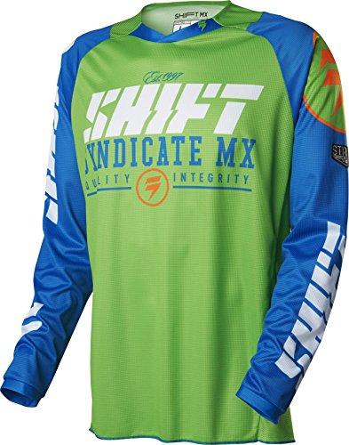 Shift Racing Strike Mens Dirt Bike Motorcycle Jerseys - BlueGreenX-Large