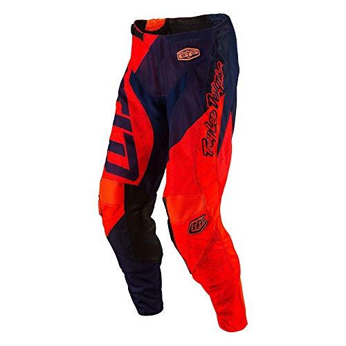 Troy Lee Designs GP Air Quest Mens Dirt Bike Motorcycle Pants - Flo OrangeNavy 28