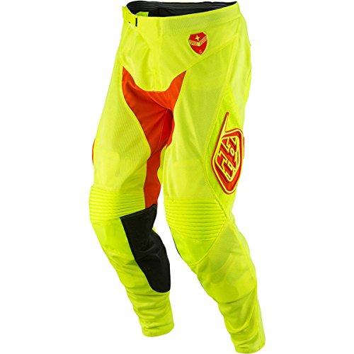 Troy Lee Designs SE Air Starburst Mens Dirt Bike Motorcycle Pants - Flo YellowOrange 30