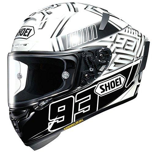 Shoei X-Spirit 3 Full Face Motorcycle Helmet Marquez TC 6 BlackWhite X-LARGE