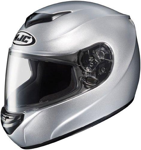 HJC CS-R2 Full-Face Motorcycle Helmet Silver Large