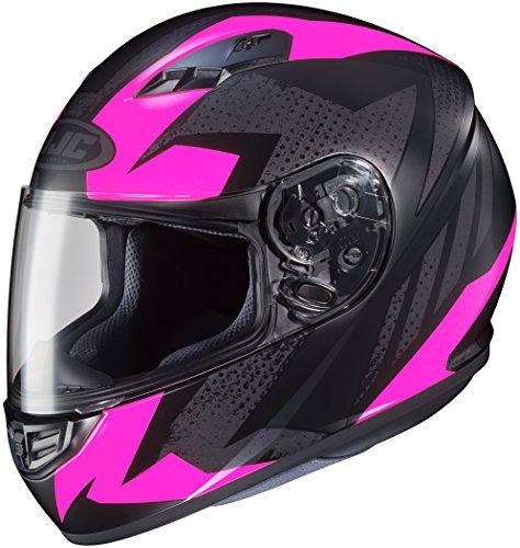 HJC CS-R3 Ladies Full Face Motorcycle Helmet Treague Graphic Flat Pink MC-8 Medium