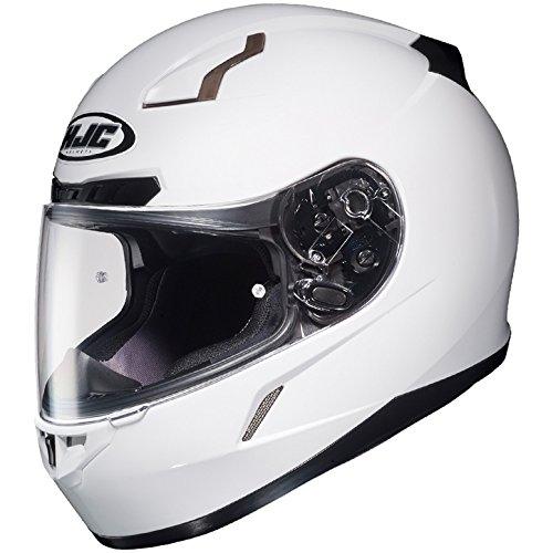 HJC Full Face Helmet CL-17 Solid Metallic White