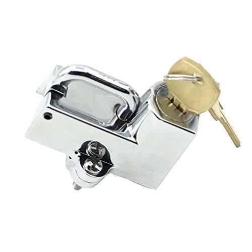 Alpha Rider Anti - theft 22mm 78 Universial Helmet Mount Hook Lock For KAWASAKI NINJA 400 2010 - 2015 NINJA 500R 06 - 10 NINJA 650R 2006 - 2010 NINJA 650 2012 - 2015 NINJA 1000 2011 - 2015 Chrome