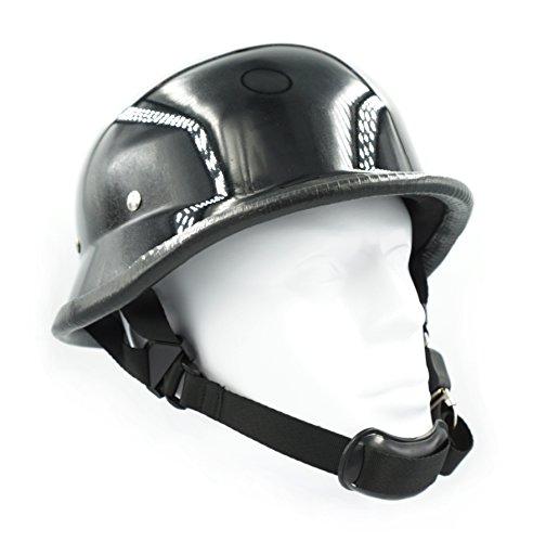 Hot Rides Chopper Biker Motorcycle Helmet Novelty German Gloss Black Large
