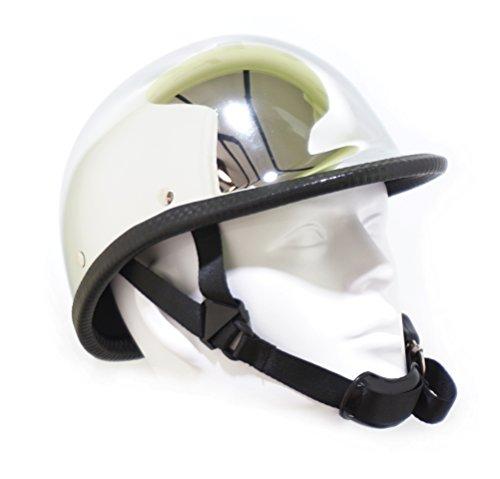 Hot Rides Classic Chopper Biker Motorcycle Helmet Novelty Hawk Chrome Large