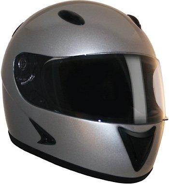 HCI-75 Silver Full Face Helmet-XS