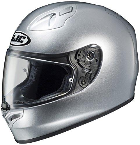 HJC Fiberglass FG-17 Solid Silver Full-Face Helmet - Large 0817-0107-06