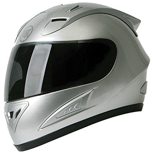Torc T-10 Prodigy Silver Full Face Helmet - Large