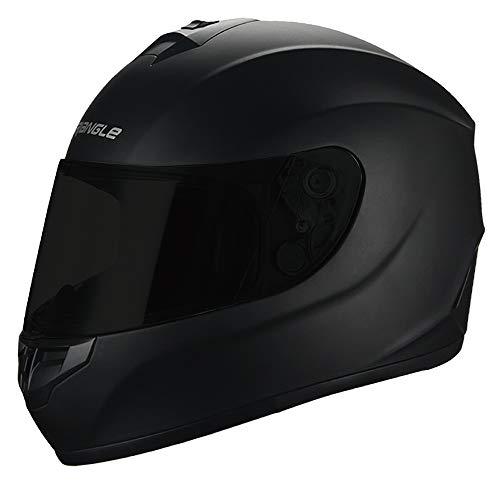 Triangle Motorcycle Helmets Full Face Graffiti Cross Street Bike DOT X-Large Matte Black