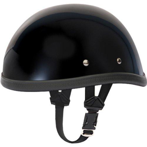 Daytona Eagle BasicCustom Novelty Cruiser Motorcycle Helmet - Hi-Gloss Black  Large