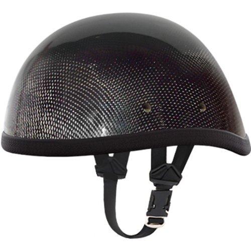 Daytona Eagle Carbon Fiber Novelty Touring Motorcycle Helmet - Grey  Large