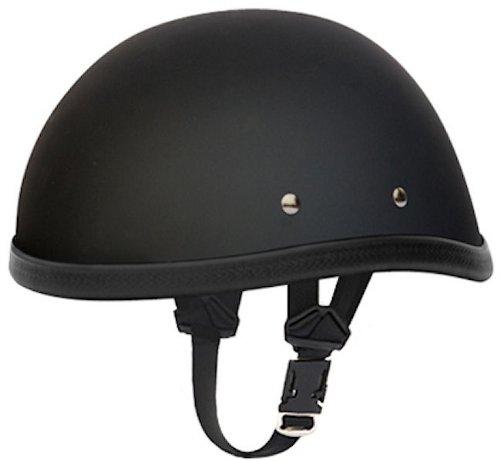 Daytona Eagle Flat Black Skull Cap Novelty Motorcycle Helmet X-Large