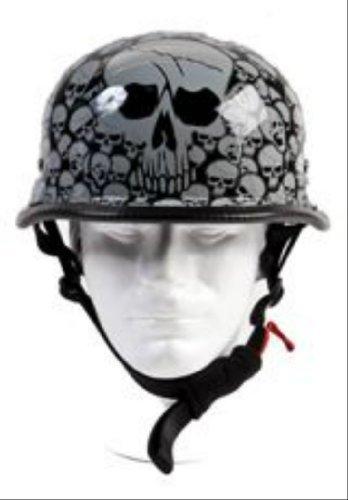 German Skull Graveyard Novelty Helmet Size Medium