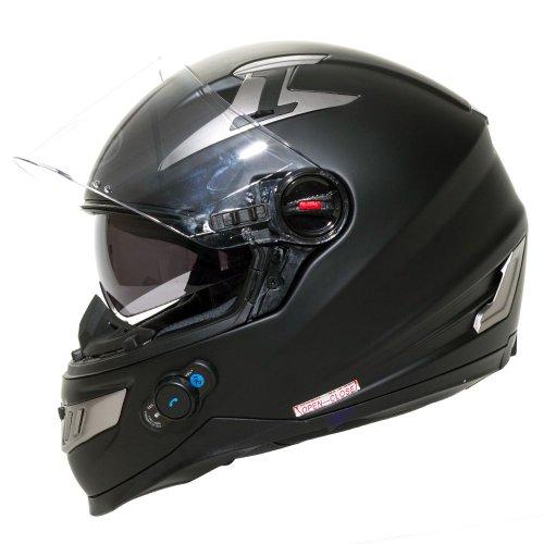 Bilt Techno Bluetooth Full-face Motorcycle Helmet - Lg, Matte Black