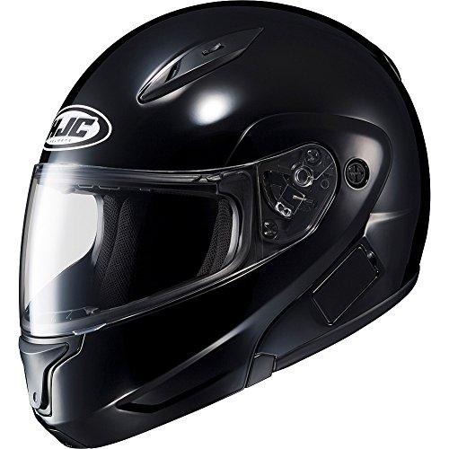 Hjc Solid Mens Cl-max Ii Bluetooth Sports Bike Motorcycle Helmet - Black / Large