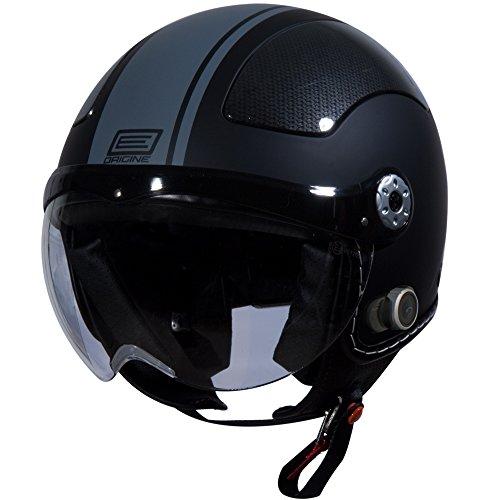 Origine O528b Pilota 3/4 Helmet With Blinc Bluetooth (flat Black, Large) (grey Gara)