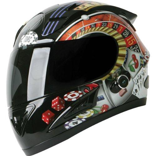 Torc Player With Blinc Bluetooth Adult Prodigy T-10b Sports Bike Motorcycle Helmet - Black / Medium
