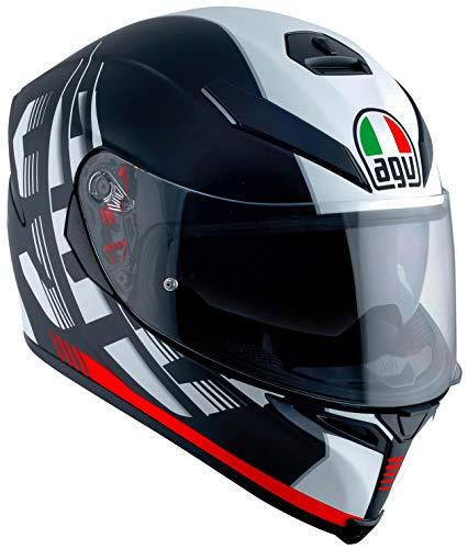 AGV K-5 S Storm Adult Helmet - BlackRedLarge