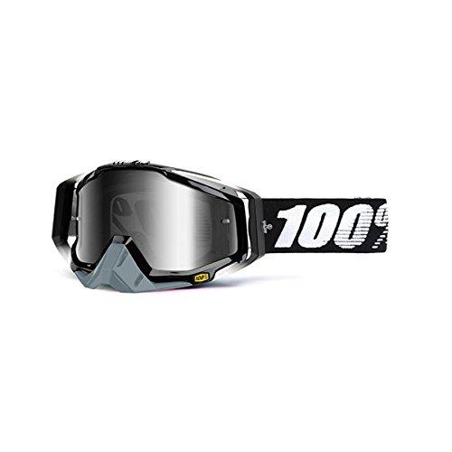 100 unisex-adult Goggle BlackMirror SilverOne Size RACECRAFT RC ABYSS Black Mirror Lens Silver - 50110-001-02