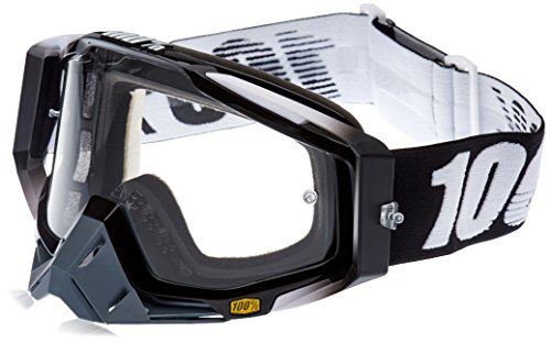 100 unisex-adult Goggle RACECRAFT RC ABYSS Black Clear Lens One Size