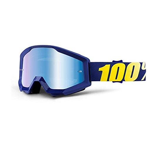 100 unisex-adult Speedlab 50410-238-02 STRATA Goggle Hope-Mirror Blue Lens One Size