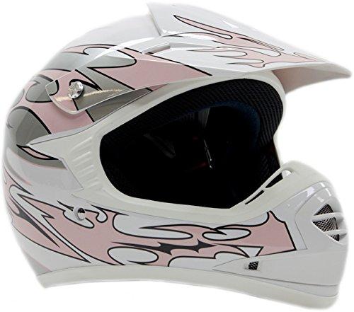 Youth Kids Offroad Helmet DOT Motocross ATV Dirt Bike MX Motorcycle - Pink - X-Large