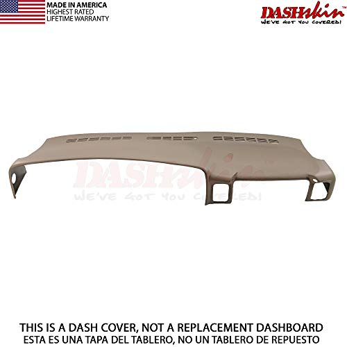 DashSkin Molded Dash Cover Compatible with 00-06 GM SUVs exc Escalade and 99-06 Pickups in Medium Neutral Tan USA Made